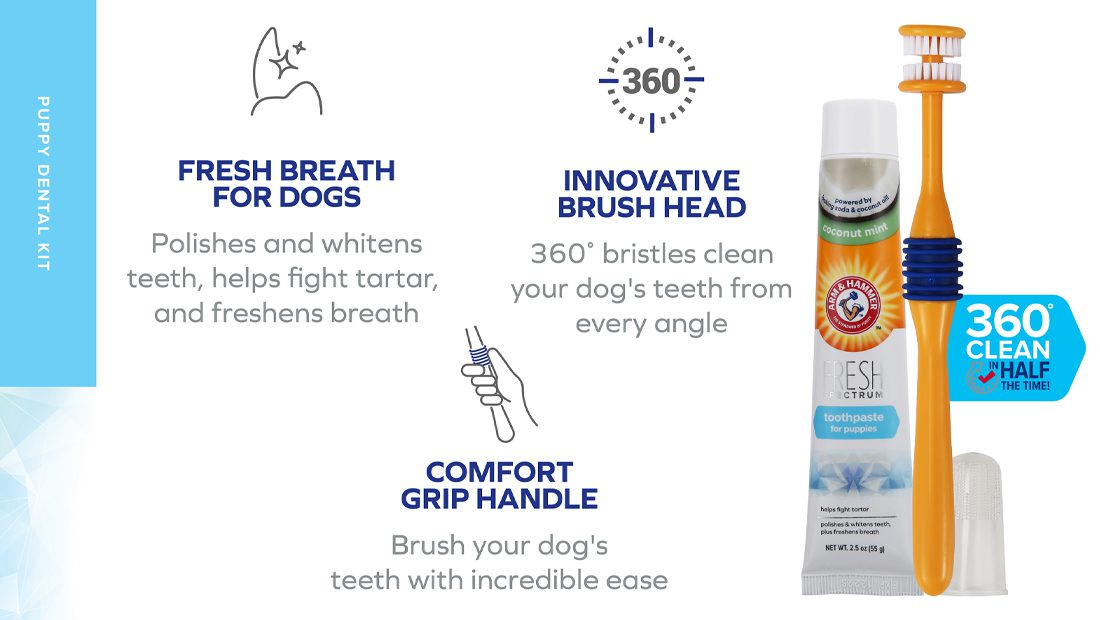 Features for Arm & Hammer Puppy Dental Kit